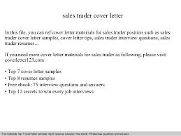 sales trader cover letter in this file you can ref cover letter materials for sales equity trader cover letter