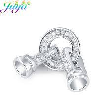 DIY <b>Jewelry Fittings Supplies</b> Copper Fastener Clasp <b>Connector</b> ...