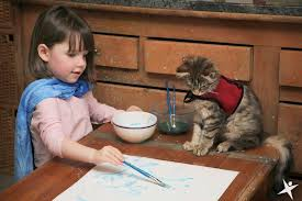 Image result for artist and cat