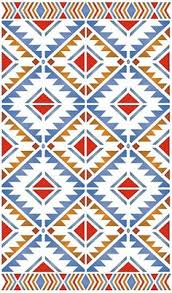 The Navajo Blackrock Motif Stencil Is A Striking Geometric Inspired Design Which Works Brilliantly As Single Motif Stencil On Cushions Or Bags