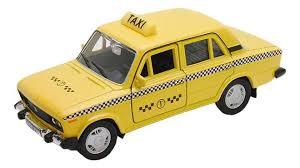 Купить <b>модель машины Welly</b> 42381TI 1:34-39 LADA 2106 Такси ...