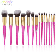 <b>Docolor 14PCS</b> Beauty <b>Makeup Brushes</b> Set Cosmetic Foundation ...