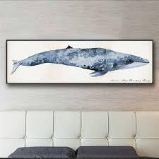 2019 <b>Nordic Modern Watercolor</b> Animals Big Whale Canvas ...