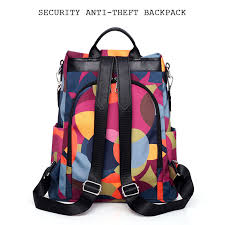 <b>Women's</b> Anti-Theft Backpack <b>Nylon</b> Cloth Waterproof <b>Female</b> ...