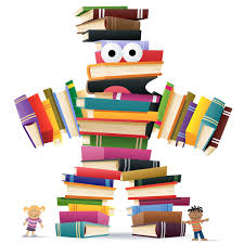 a figure consisted of books