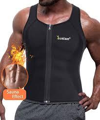 Junlan Men Sweat Waist Trainer Tank Top Vest ... - Amazon.com