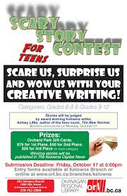 scary story creative writing contest for teens kelownalibrary