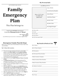 family emergency plan printable documents for your emergency family emergency plan printable documents for your emergency binders