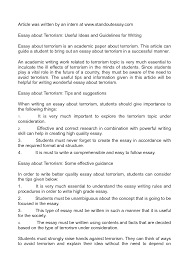 terrorism essay in related post of terrorism essay in