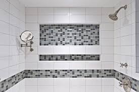 bathroom niches: shower niches provide ample storage and add a decorative element