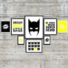 <b>Superhero</b> Wall Art, <b>Dream Big</b> Little Batman, Be Your Own <b>Super</b> ...