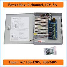 <b>9CH</b> Port DC12V 5A CCTV Camera Power Box Adapter Switching ...