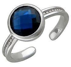 <b>Эстет Кольцо</b> безразмерноес сапфировым стеклом из серебра ...