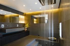 modern vanity set with bathroom large size interesting brown tiled bathroom shows open waterfall shower designed in front of bathroom recessed lighting bathroom modern