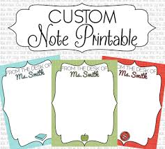 personalized stationary note printables from the desk of 🔎zoom