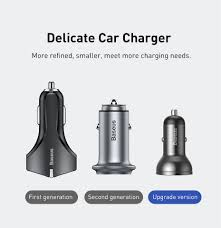 <b>Baseus</b> All <b>Metal Dual</b> USB Car Charger 24W 4.8A Fast Car USB ...