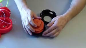 Катушка с автоматической намоткой для бензокос. - YouTube