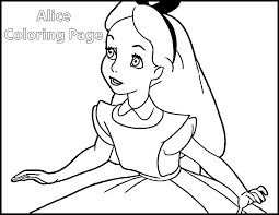 Small Picture Alice In Wonderland Coloring Pages 3 Disney Coloring Book Coloring