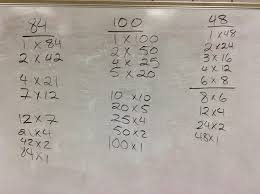 mr german s math class finding factors part 2 finding factors is a major part of math here are some tips on finding factors lets look at this list of factors for 84 100 and 48