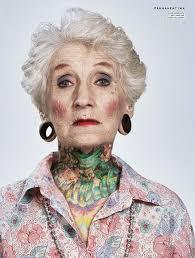 Resultado de imagen de old people tattoo