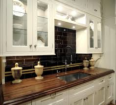 kitchen countertops kitchen decoration stunning black subway tile backsplash with white wooden floating kitchen cabinet clear awesome black white wood glass