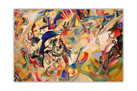 Handmade <b>Wassily Kandinsky Geometric Abstract</b> Large Wall Art ...