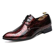 OMG Fashion <b>Men Leather</b> Shoes <b>Pointed Bright Leather</b> Lace Low ...