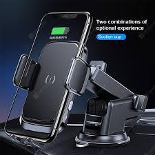 <b>LEEHUR</b> 15W Wireless <b>Car Charger Phone</b> Holder Suction Cup Air ...