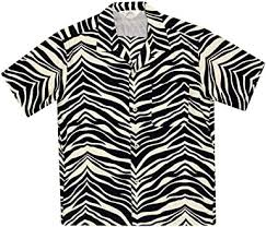 STAR OF HOLLYWOOD Mens <b>Zebra Print Hawaiian</b> Shirt SoH8663 ...
