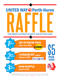 raffle united way perth huron raffle poster