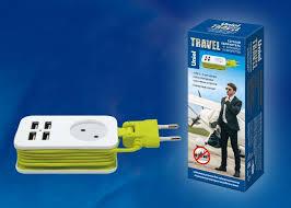 <b>Удлинитель Uniel Travel</b> S-CT1-<b>1</b>,5U white/green, 1.3 м