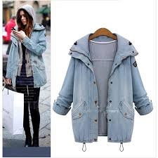 <b>SWYIVY Women's</b> Autumn And Winter New Denim <b>Jacket</b> Casual ...