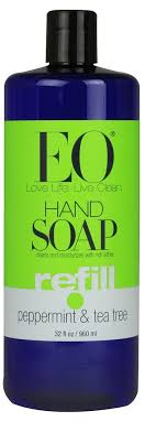 EO Essential Oil Products Liquid <b>Hand Soap Refill Peppermint</b> and ...