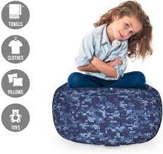 Pale <b>Blue</b> and <b>Dark Blue</b> Large Size Ambesonne <b>Camo</b> Storage Toy ...
