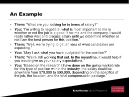 Evaluating and Negotiating a Job Offer ... salary; 8.