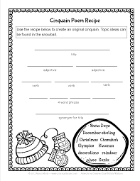 winter cinquain tpt language arts lessons writing winter