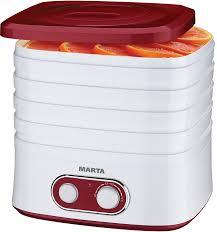 <b>Сушилка</b> для овощей и фруктов <b>MARTA MT</b>-<b>1945</b> (гранат, красный)