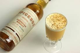 <b>Santa's</b> Whiskey <b>Flip</b> Cocktail Recipe - Cinnamon-infused Whiskey