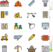 architecture and construction icons stock photo image  architecture and construction icons