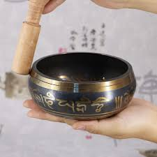 himalayan hand bowl decorative chakra meditation wall dishes yoga tibetan buddhist brass singing supplies