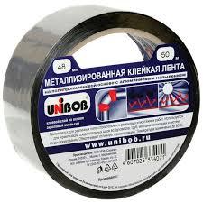 <b>Клейкая лента UNIBOB</b> 48 мм х 50 м черная купить по цене 149.0 ...