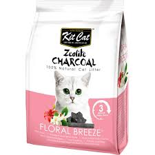 <b>Kit Cat Zeolite</b> Charcoal Floral Breeze Cat Litter 4kg | Kohepets