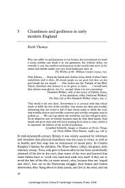 cleanliness and godliness in early modern england university cleanliness and godliness in early modern england