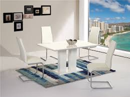 white dining table gloss