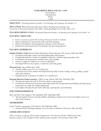 tutor sample resume objective cipanewsletter teaching resume sample resume samples for teachers in word format