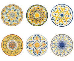 <b>Набор из 6 подставок</b> под тарелку Sicilia от Villa D'este жёлтый ...