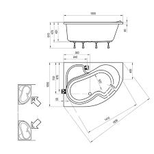 <b>Акриловая ванна Ravak Rosa</b> I 150x105 L в Москве – купить по ...