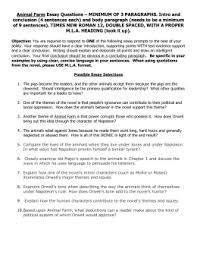 animal farm study guide  answer key animal farm essay questions