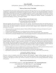 free special education teacher resume example free special education teacher resume example sample resume education