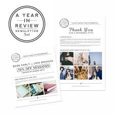 save on year in review newsletter templates for photoshop the discount photoshop templates year end newletter template marketing for photographers